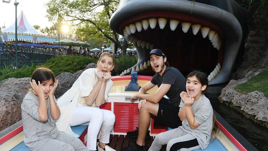 Céline Dion mit ihren drei Söhnen am 6. Geburtstag der Zwillinge