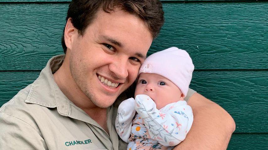 Chandler Powell mit seiner Tochter Grace