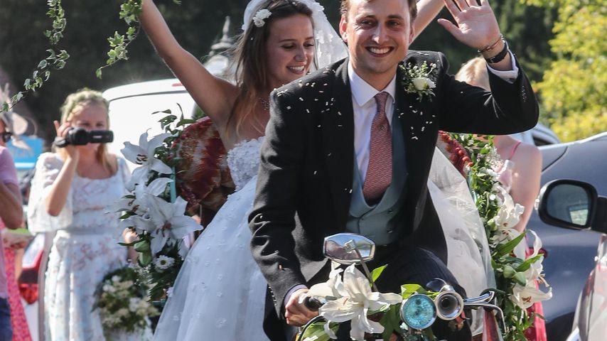Charlie van Straubenzee auf seiner Hochzeit mit Daisy Jenks