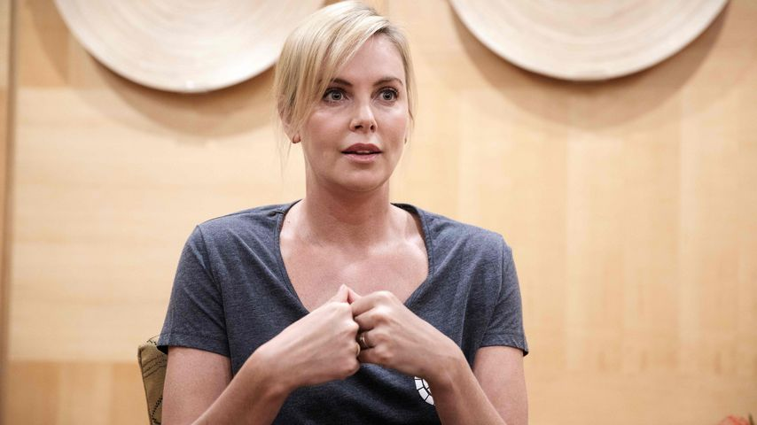 Charlize Theron bei einem Interview in Johannesburg im August 2017