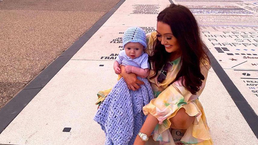 Charlotte Dawson mit ihrem Sohn Noah im Juni 2021