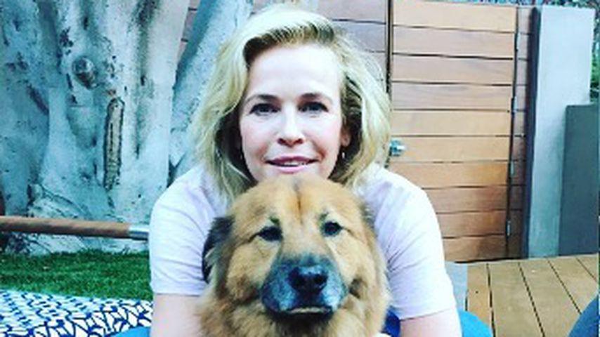 Chelsea Handler mit Hund Chunk