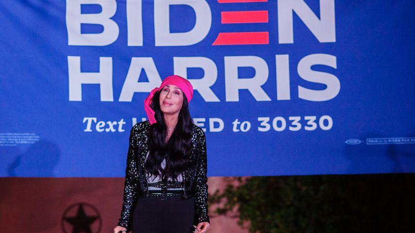 Cher bei einer Biden-Harris-Wahlkampfveranstaltung in Phoenix im Oktober 2020
