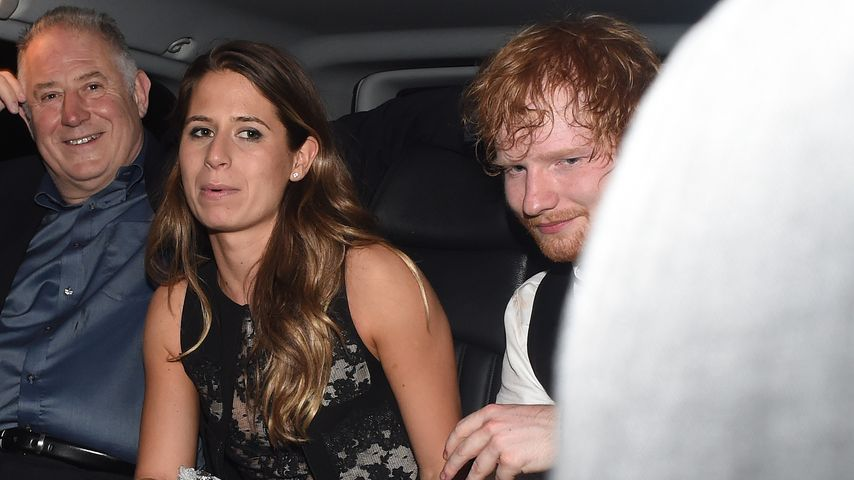 Cherry Seaborn und Ed Sheeran nach einer Party in London
