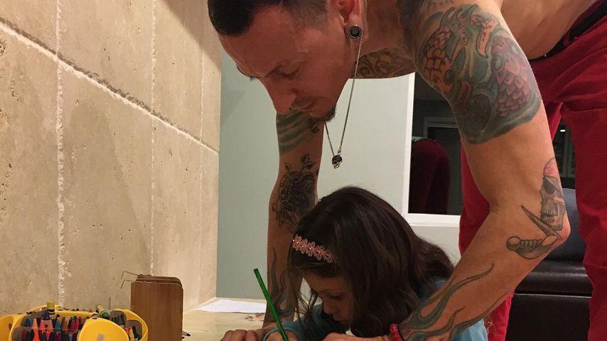 Chester Bennington mit seiner Tochter