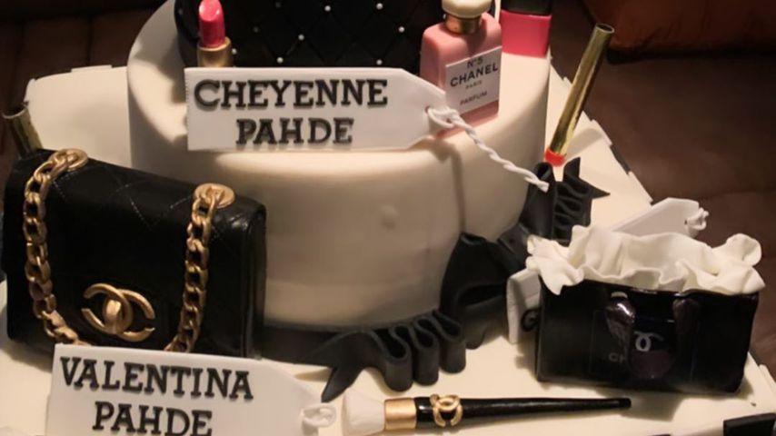 Cheyenne und Valentina Pahdes Geburtstagstorte
