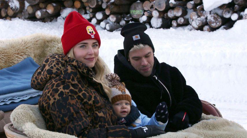 Chiara Ferragni und Fedez mit ihrem Sohn Leone