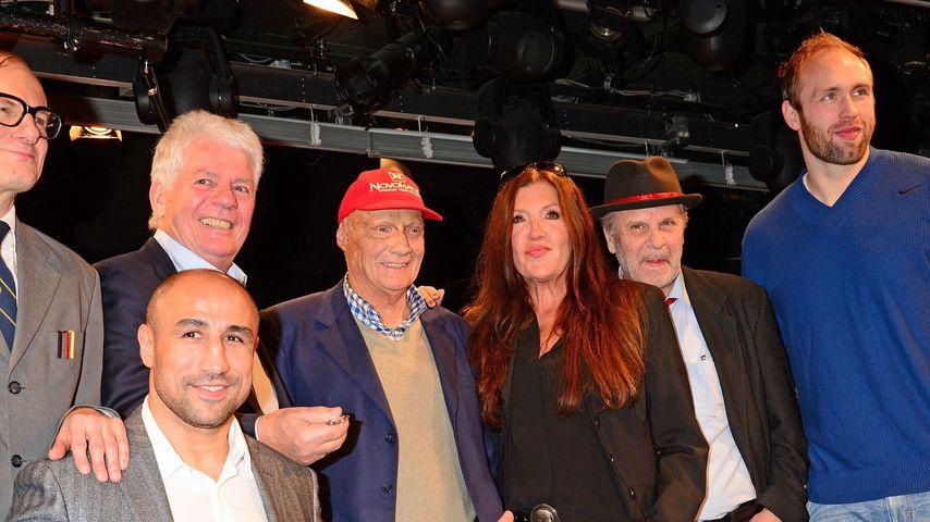 Katy Karrenbauer, Arthur Abraham, Thomas Stein, Robert Harting und Niki Lauda