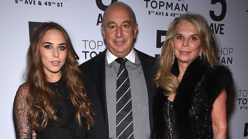 Chloe Green und ihre Eltern Sir Philip Green und Lady Tina Green