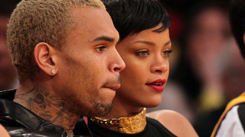 Chris Brown und Rihanna auf einem NBA-Basketballspiel 2012 in L.A.