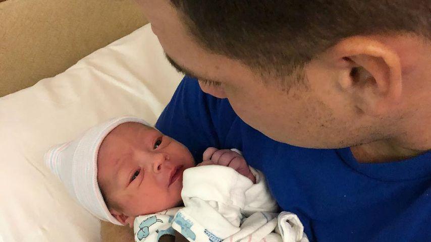 Chris Buckner mit seinem Sohn CJ