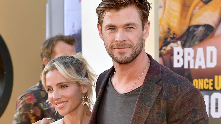 """Chris Hemsworth mit seiner Frau Elsa Pataky bei der """"Once Upon a Time... in Hollywood""""-Premiere 2019"""