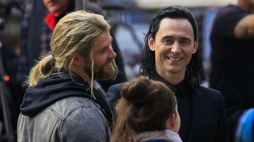 """Chris Hemsworth und Tom Hiddleston beim """"Thor: Ragnarok""""-Dreh in Brisbane"""