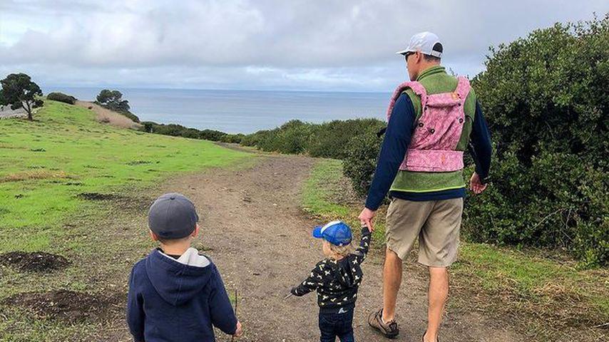 Chris Klein mit seinen beiden Kindern