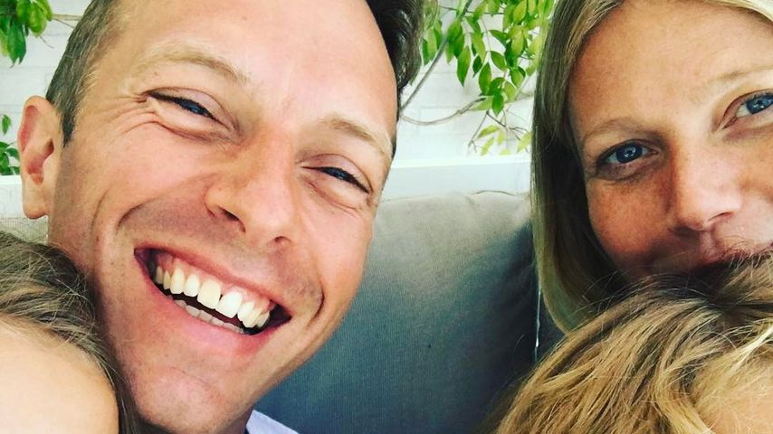 Chris Martin und Gwyneth Paltrow mit ihren Kindern Apple und Moses