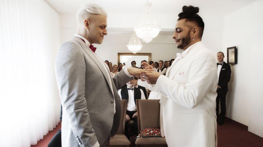 Chris und Manuel Denniger bei ihrer Hochzeit