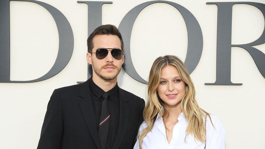 Chris Wood und Melissa Benoist bei der Paris Fashion Week