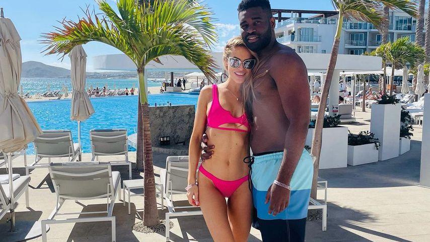 Chrishell Stause mit ihrem Freund Keo Motsepe