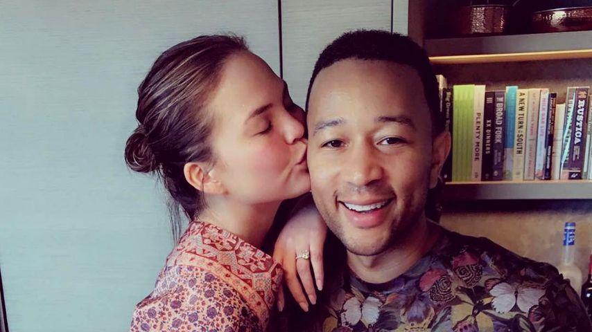 Chrissy Teigen und John Legend an Lunas erstem Geburtstag