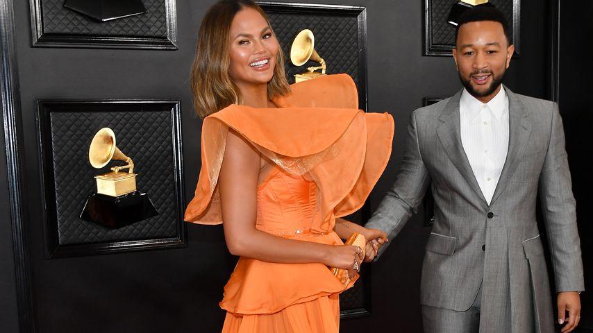 Chrissy Teigen und John Legend bei den 62. Grammy Awards 2020