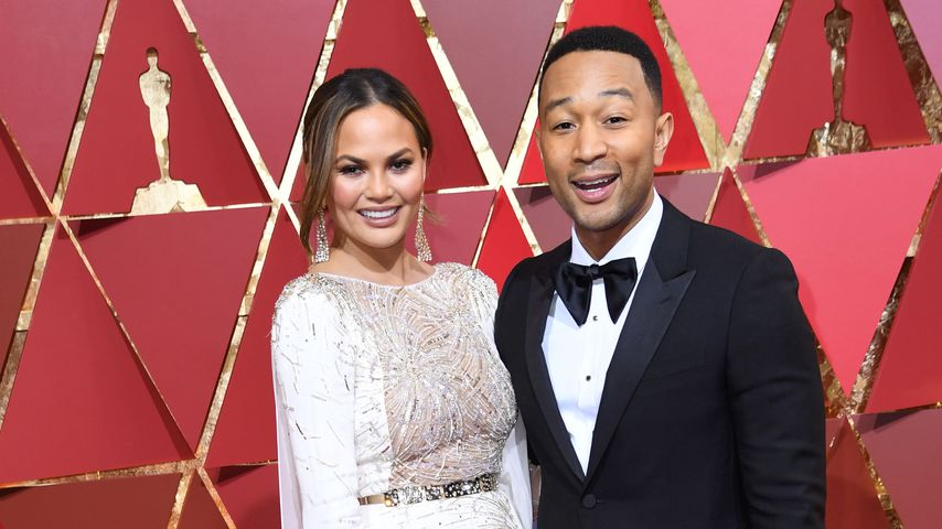 Chrissy Teigen und John Legend bei der Oscar-Verleihung 2017 in Hollywood