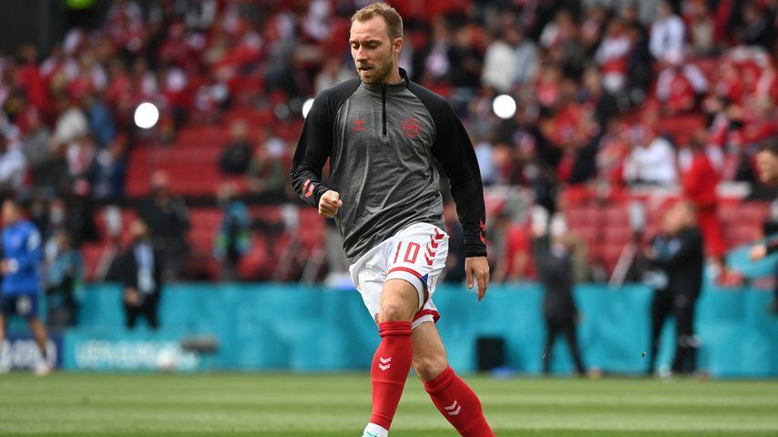 Christian Eriksen vor dem EM-Spiel Dänemark gegen Finnland am 12. Juni 2021