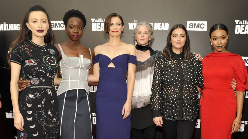 """The Walking Dead""-Darstellerinnen auf einer Premierenfeier in Hollywood"