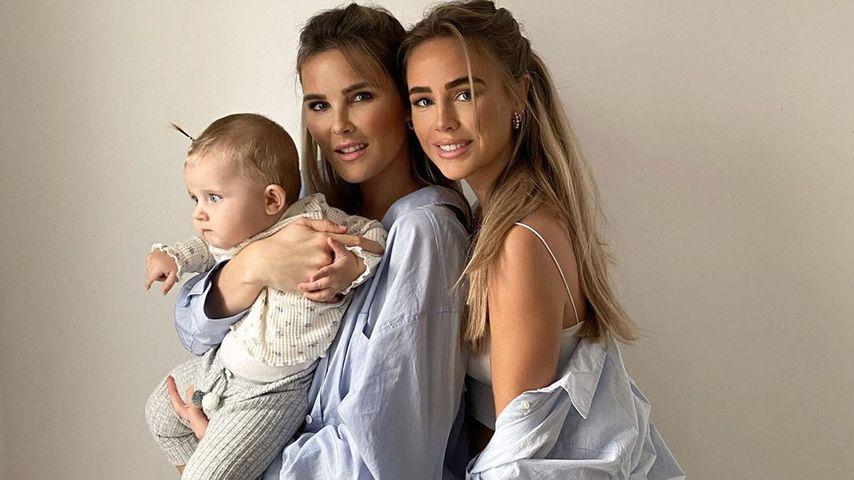 Christin Kaeber mit ihrer Tochter Nia und Schwester Liz (r.)