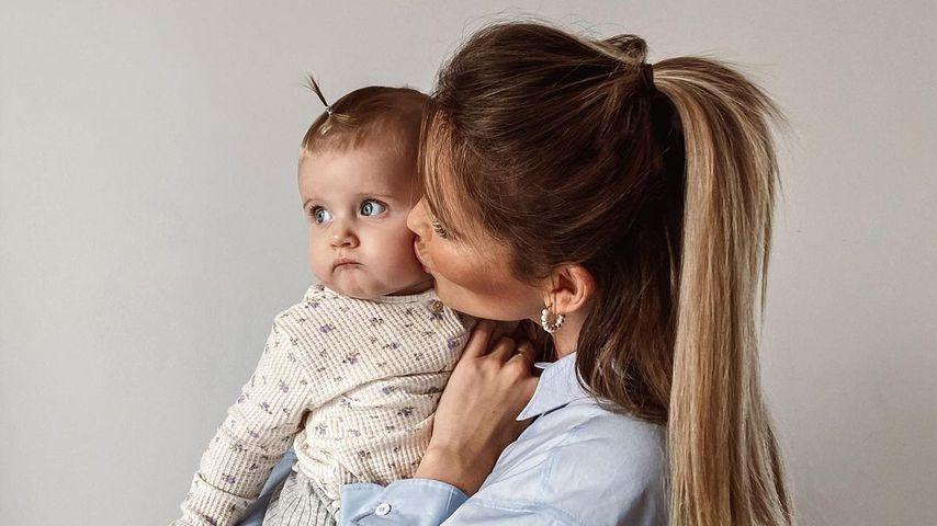 Christin Kaeber und Tochter Nia