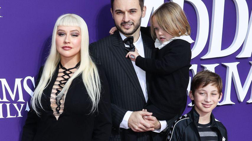 Christina Aguilera, Matthew und Summer Rutler und Max Bratman