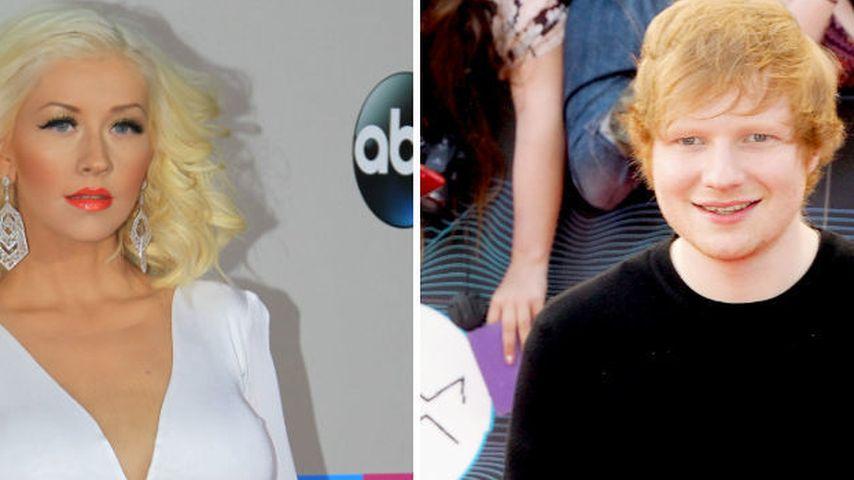 Christina Aguileras Brüste lenkten Ed Sheeran ab