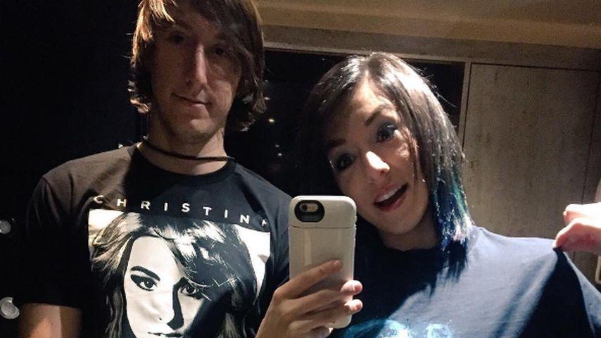 Christina Grimmie mit ihrem Bruder Mark