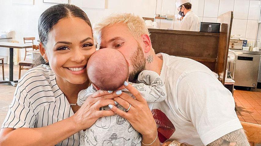 Christina Milian, ihr Partner Matt Pokora und ihr Sohn Kenna, Mai 2021