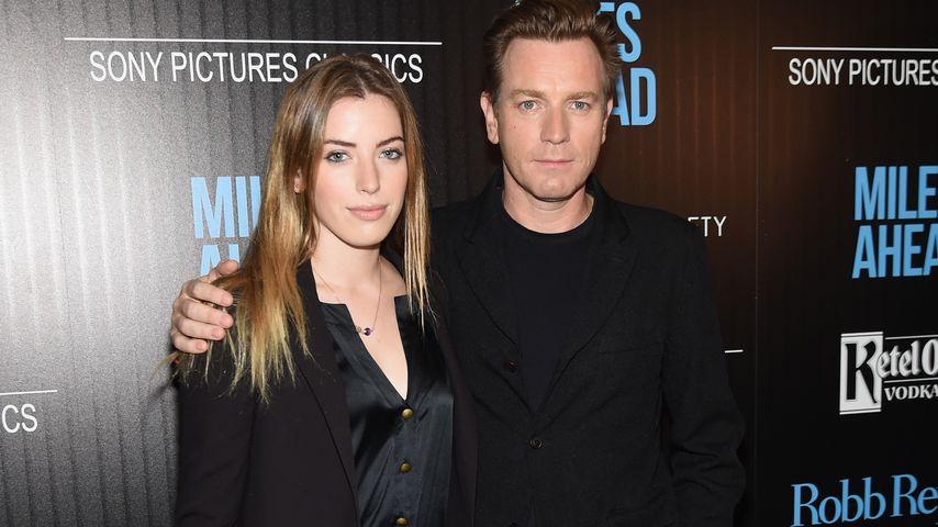 Clara und Ewan McGregor in New York im März 2016
