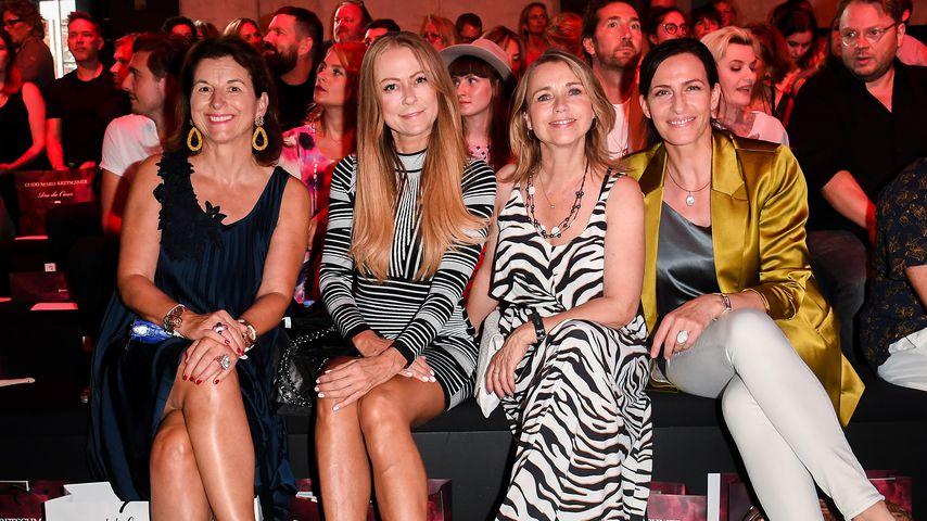 Claudia Obert, Jenny Elvers, Tina Ruland und Ulrike Frank im Juni 2019 bei der Berliner Fashion Week