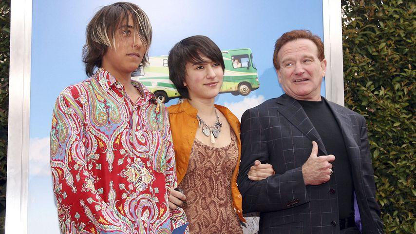 Cody, Zelda und Robin Williams im April 2006