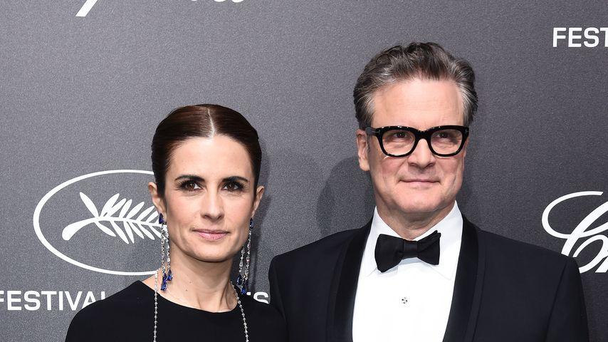 Colin Firth mit seiner Frau Livia im Mai 2019