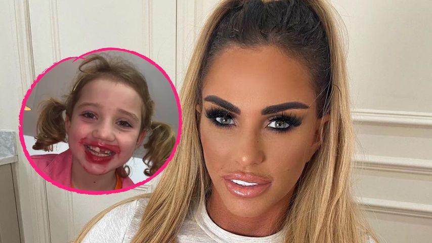 Lippenstift-Fauxpas: Katie Price' Tochter (6) schminkt sich