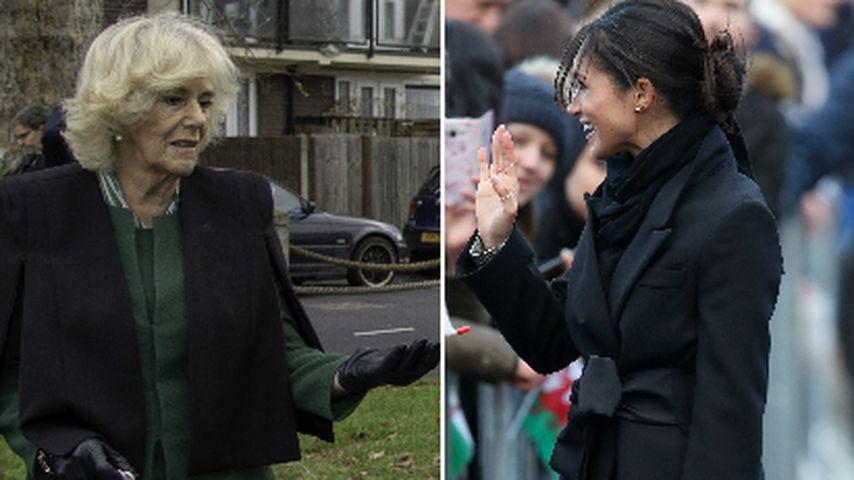 Style-Schwestern: Camilla & Meghan haben gleiche Handtasche