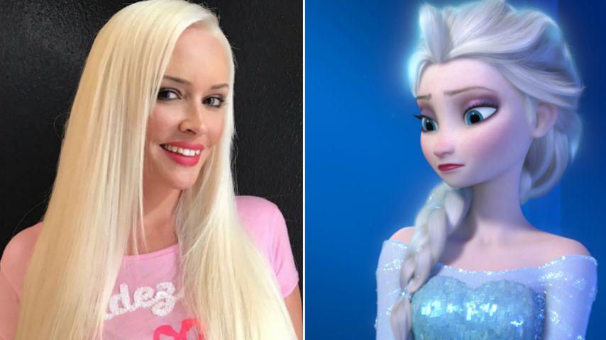 Wie Disneys Elsa: Daniela Katzenberger hat die Haare schön!