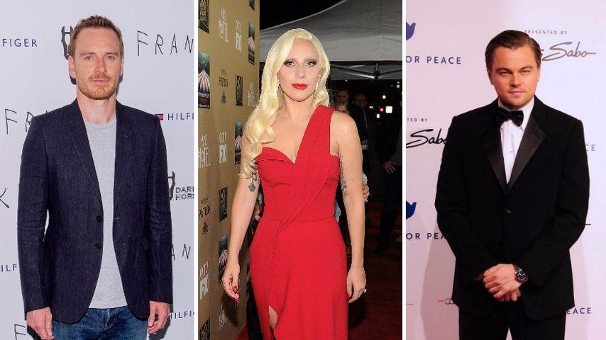 Leonardo DiCaprio, Lady GaGa und Michael Fassbender
