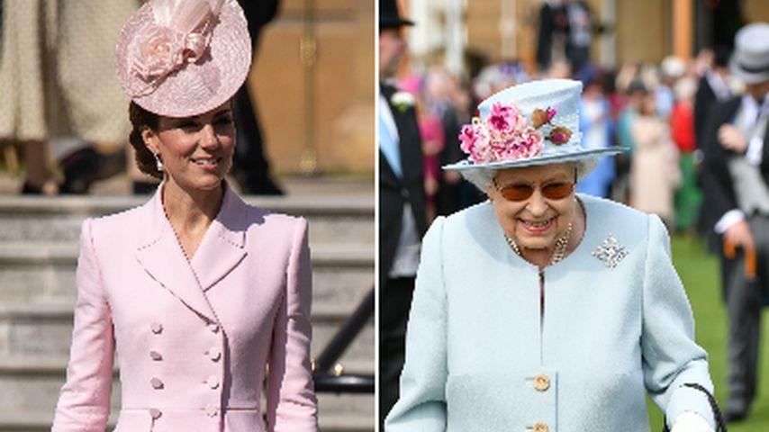 Pastell-Liebe: Kate und Queen matchen Look bei Garten-Party