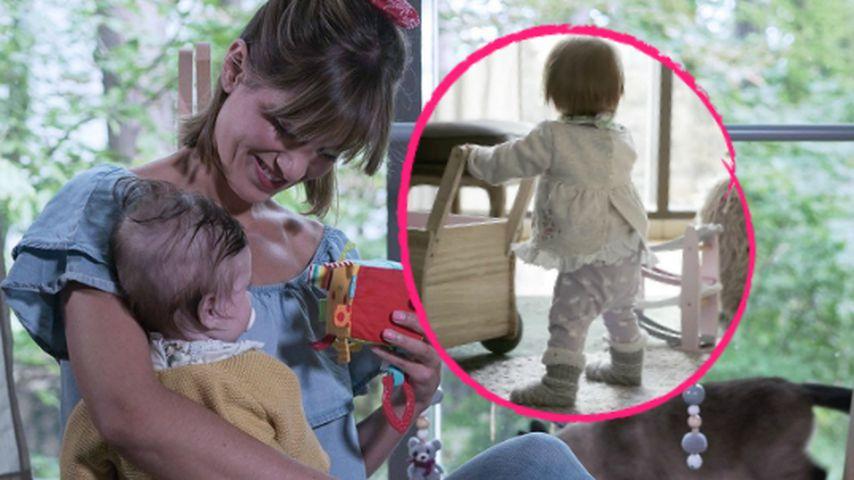Stolze Mama: Isabell Horns Baby-Girl Ella kann schon laufen!