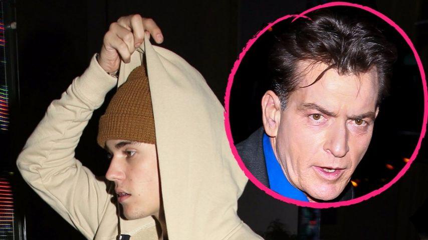 Nach HIV-Gerüchten: Justin Bieber flüchtet vor Charlie Sheen