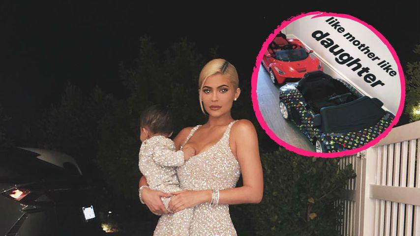 Zu Weihnachten: Kylie schenkte Baby Stormi Mini-Luxus-Autos