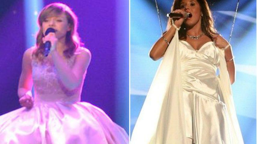 Wie Marie! Sarah Lombardi trug im DSDS-Finale Mega-Kleid