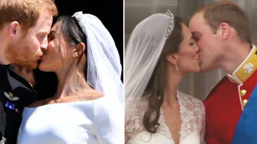 Harry & Meghan oder William & Kate: Wer knutscht schöner?