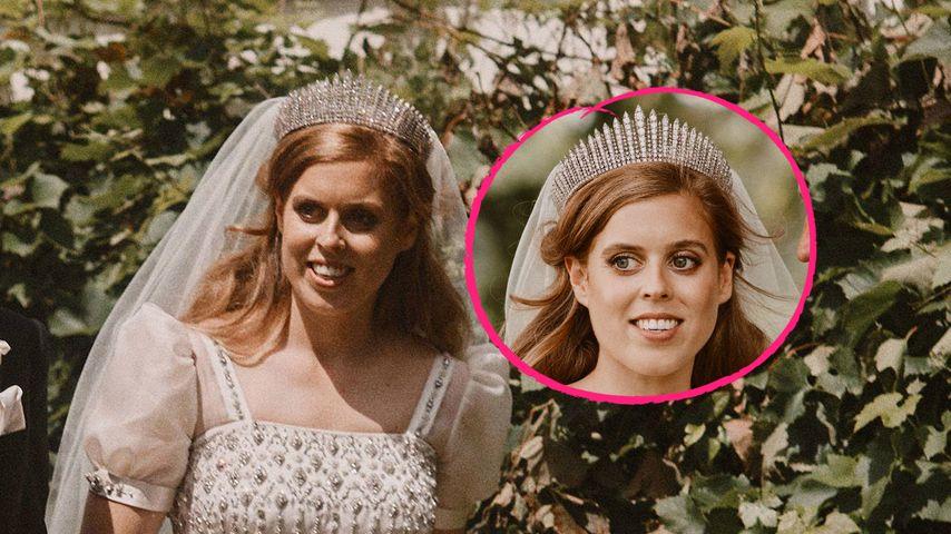 Zur eigenen Trauung: Beatrice trug Hochzeitsdiadem der Queen