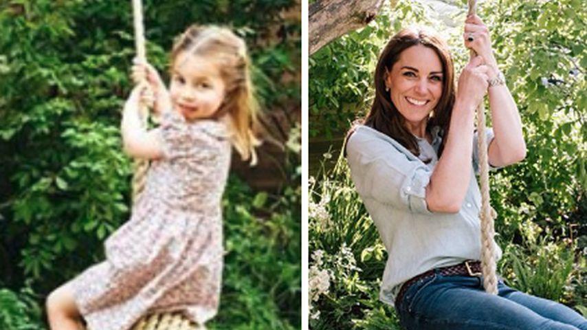 Süße Fotos: Herzogin Kate & Charlotte schaukeln ausgelassen!