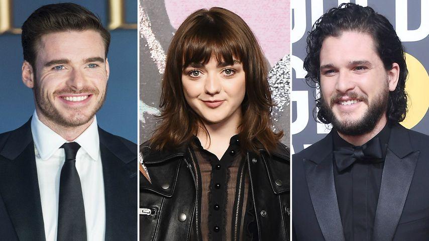 """Collage: Richard Madden, Maisie Williams und Kit Harington, """"Game of Thrones""""-Schauspieler"""